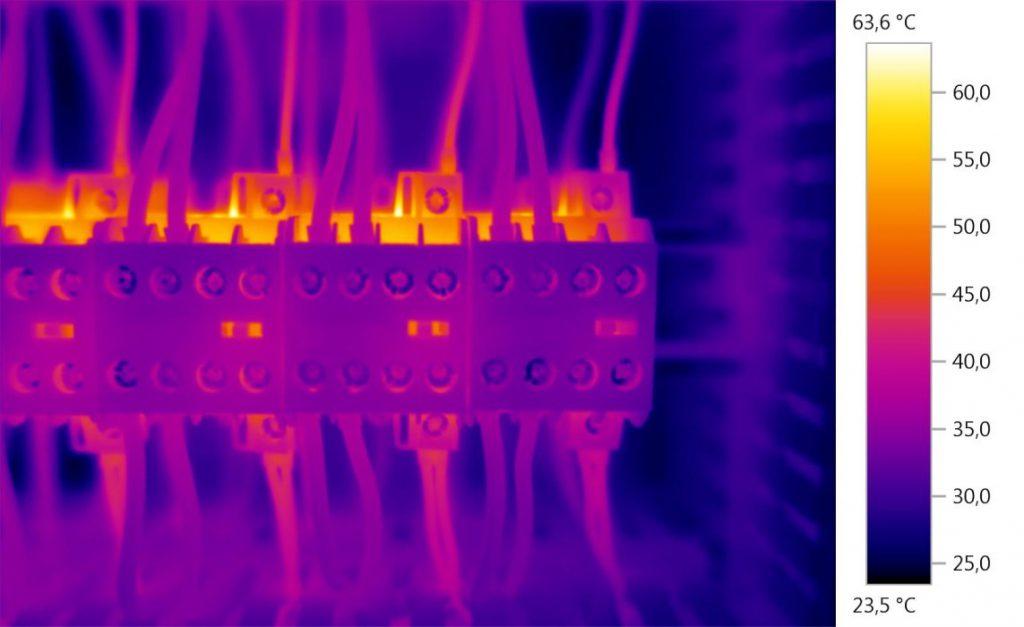 סריקה תרמוגרפית של ארון חשמל